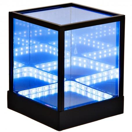 Lámpara de mesa Cubo Multicolor con control remoto