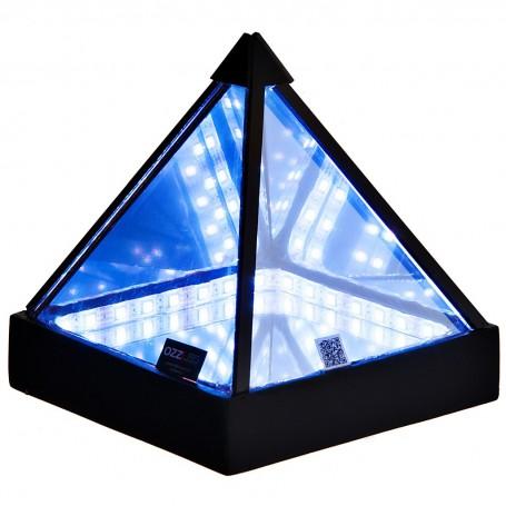 Lámpara de mesa Pirámide Multicolor con control remoto