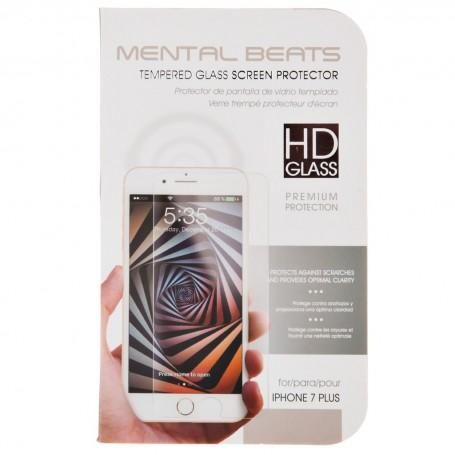 Protector de pantalla de vidrio templado para iPhone 7 Plus Mental Beats