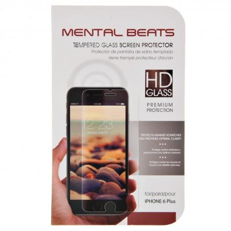 Protector de pantalla de vidrio templado para iPhone 6 Plus Mental Beats
