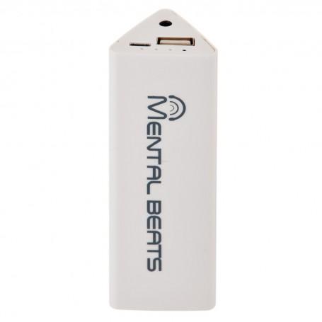 Banco de energía con receptor Bluetooth 2600mAh Mental Beats