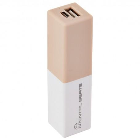 Banco de energía con 1 USB 2600mAh Mental Beats