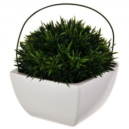 Planta artificial pequeña con maceta Haus