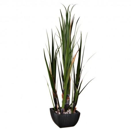 Planta espigas con 5 tallos y maceta Haus