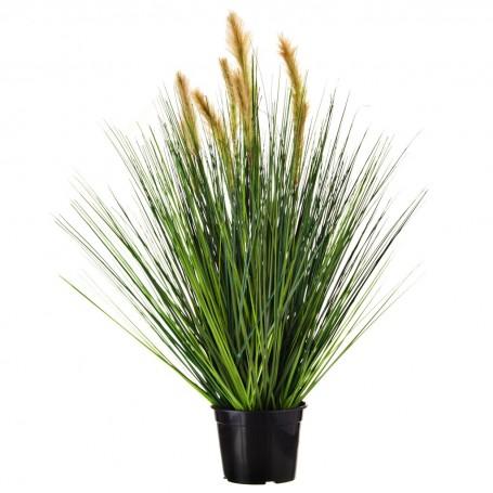 Planta espigas con flor y maceta Haus