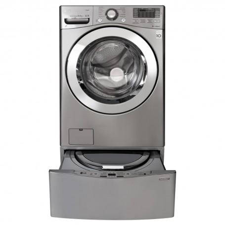 LG Lavadora de carga frontal Inverter, NFC y Smart con Mini lavadora TwinWash WM20VVS6 / WD100CV 44lbs