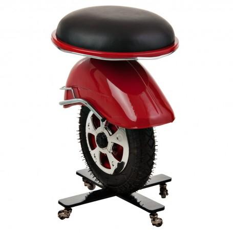 Banco rueda Rojo Vespa
