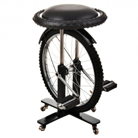 Banco rueda de bicicleta