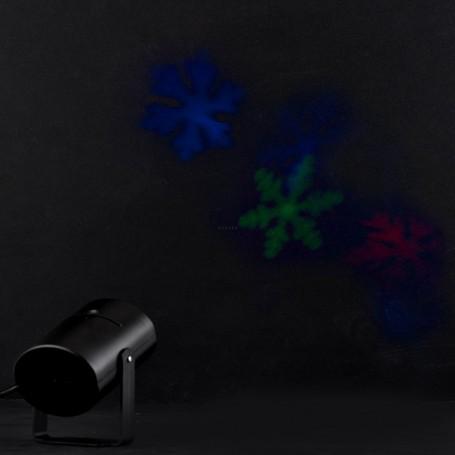 Luces intercambiables para fiesta con soporte RGB Copo de Nieve