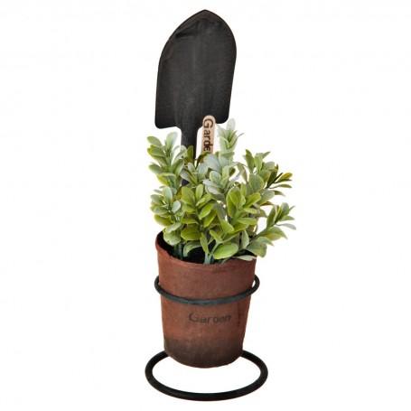 Planta artificial con maceta y pala Hojas Verdes Haus