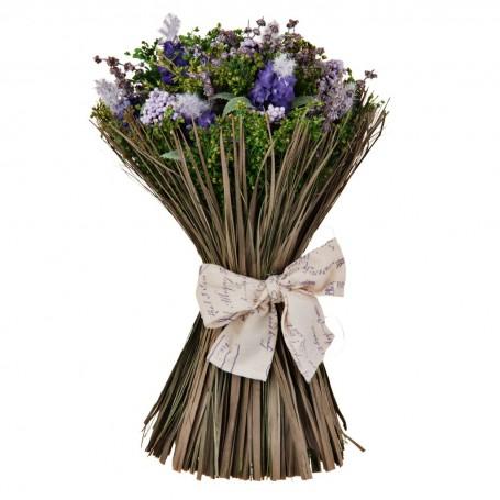 Arreglo floral con lazo Bouquet Lavanda