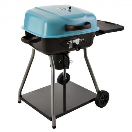 BBQ a carbón con tapa, bandeja y ruedas