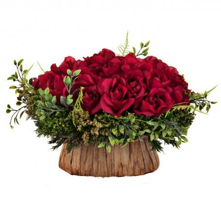 Arreglo floral con maceta Rosas Rojo