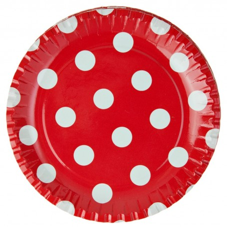Juego de 10 platos Puntos Party Time