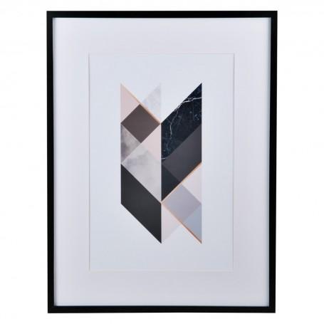 Cuadro con marco Geométrico