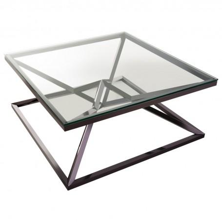 Mesa de centro cuadrada Negro / Silver