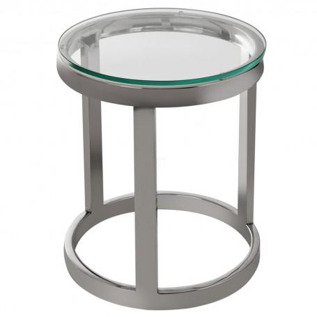 Mesa Lateral Pequeña Silver / Clear