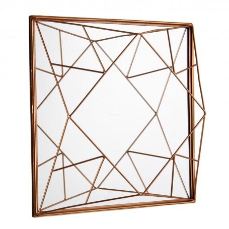 Espejo Geométrico Dorado Haus