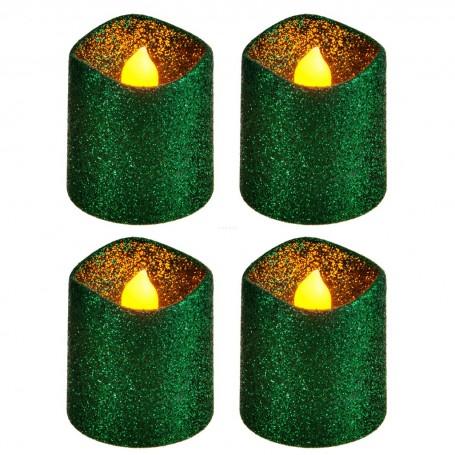 Juego de 4 velas votivas LED Escarcha Haus