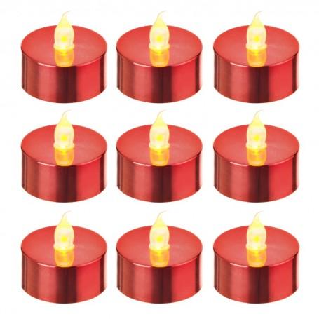 Juego de 9 velas tealight LED Haus
