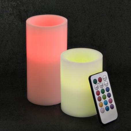 Juego de 2 velones LED con control remoto Luces de Colores Haus