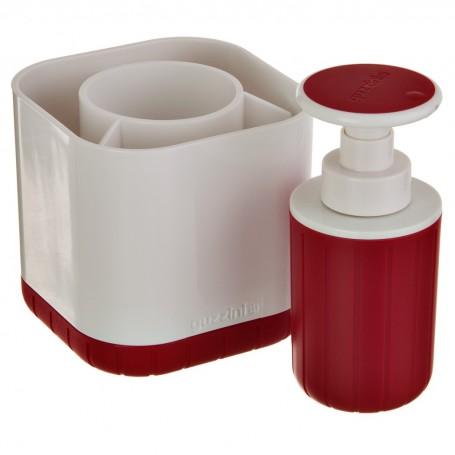 Escurridor / Organizador para cubiertos con dispensador de jabón Fratelli Guzzini