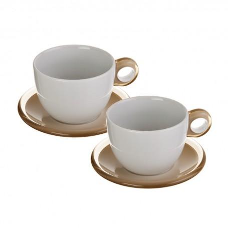 Juego de 2 tazas y platos para té Gocce Fratelli Guzzini