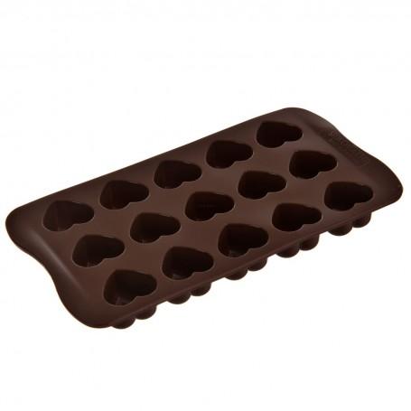 Mini molde de silicona para chocolate Corazón Silikomart