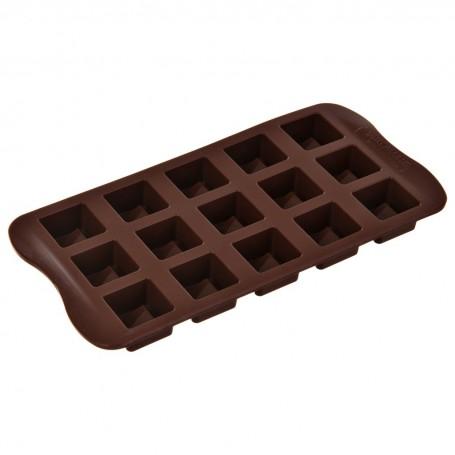 Mini molde de silicona para chocolate Cubos Silikomart