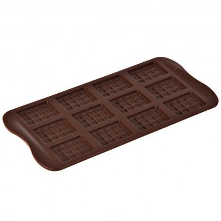 Mini molde de silicona para chocolate Tabletas Silikomart