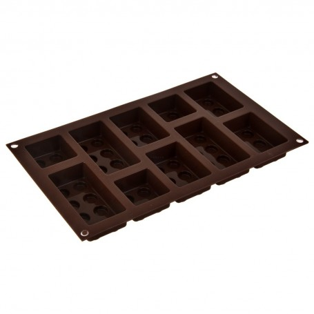 Molde de silicona para chocolate Lego Silikomart