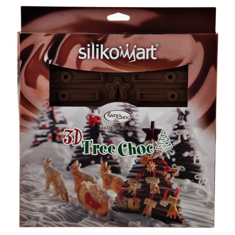 Molde de silicona para chocolate Árbol Navidad Silikomart