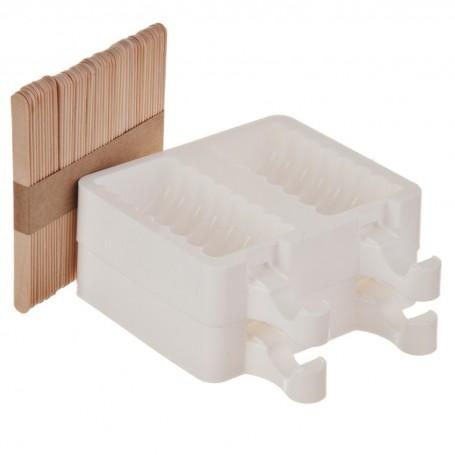 Molde de silicona para helado con palillos Silikomart