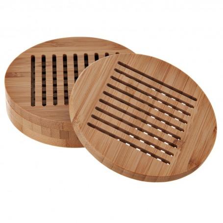 Juego de 4 posa vasos Bamboo Novo