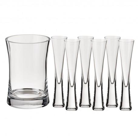Champagnera con copas Moya 7 piezas LSA International