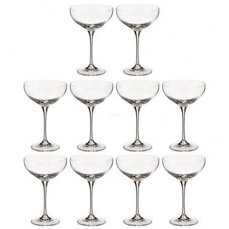 Juego de 10 copas champagne Tower LSA International