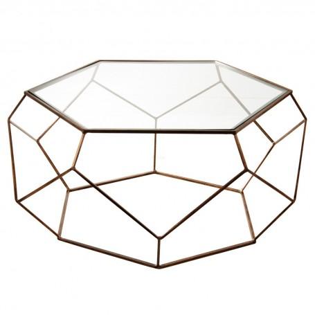 Mesa de centro Hexagonal Antique Gold Haus