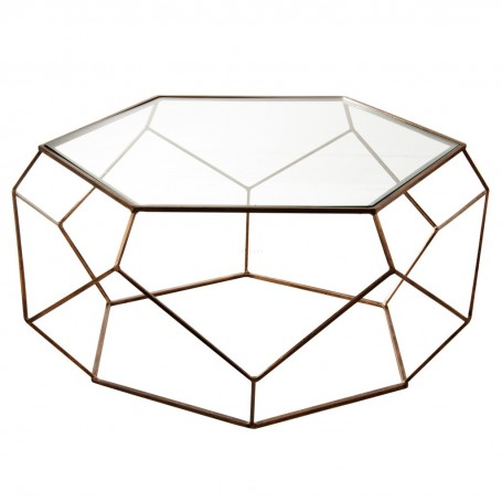 Mesa de centro Hexagonal Antique Gold Haus