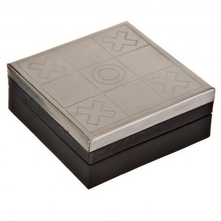 Tic Tac Toe con caja pequeña de madera Haus
