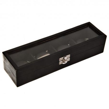 Brújula, termómetro, reloj y compás con caja de madera