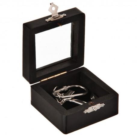 Llavero Ancla Silver con caja de madera