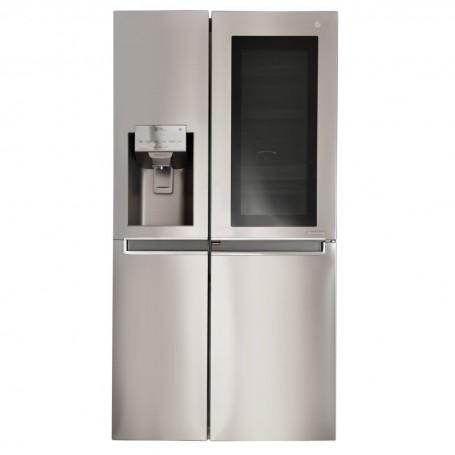 LG Refrigerador Side by Side con puerta de vidrio y dispensador Inverter InstantView 601 L LS65SXN