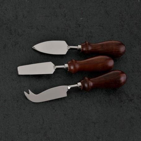 Cuchillos para queso 3 piezas Silver / Café Haus