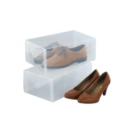 Juego de 2 cajas organizadoras para zapatos Wenko
