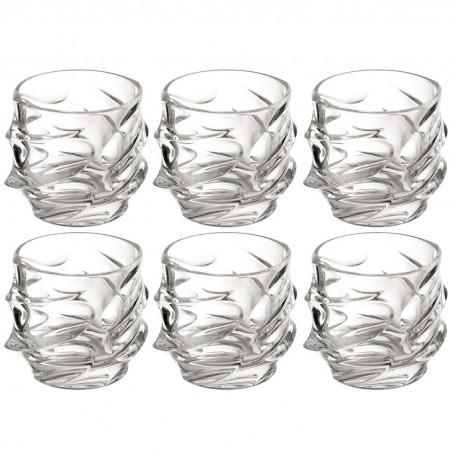 Juego de 6 vasos para whisky Calypso Jihlavske