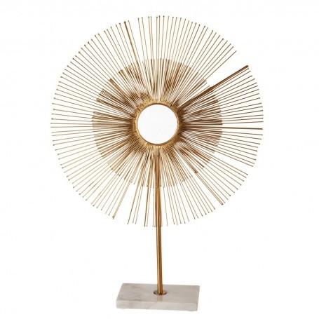 Escultura Sol con base de mármol Haus