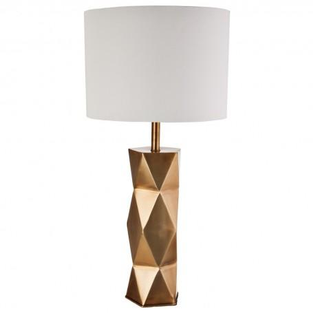 Lámpara alta de mesa Geométrico Dorado Haus