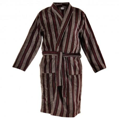 Bata de baño con bolsillos Rayas Perfect Comfort