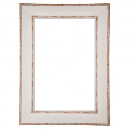 Espejo con marco Blanco / Natural Haus