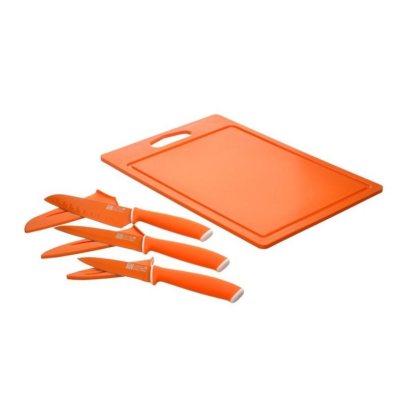 Tabla para picar con 3 cuchillos